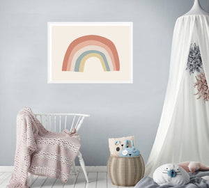 Follow the Rainbow Nursery Print