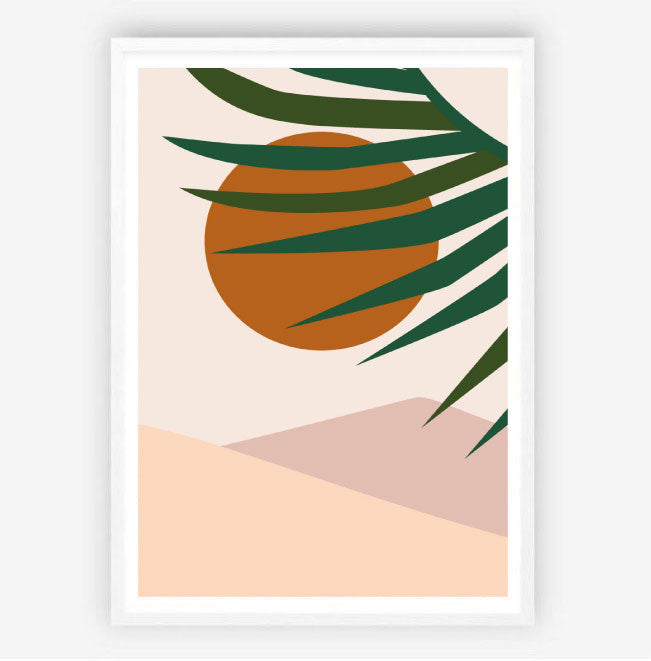 Summer Sunset Original Illustration Print