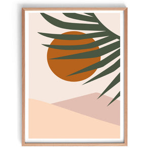 Summer Sunset II Original Illustration Print