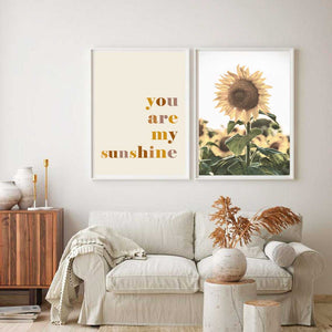 You are my Sunshine + Sunflowers Print Set