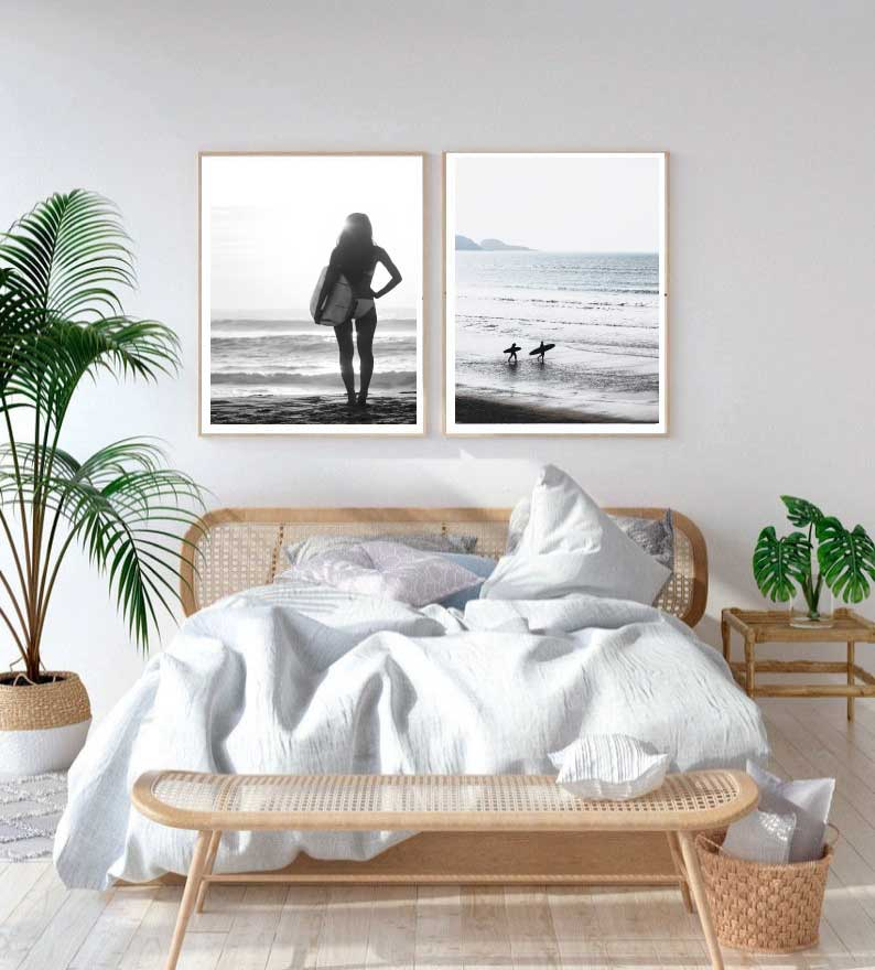 Surfer Photography Prints Set of 2