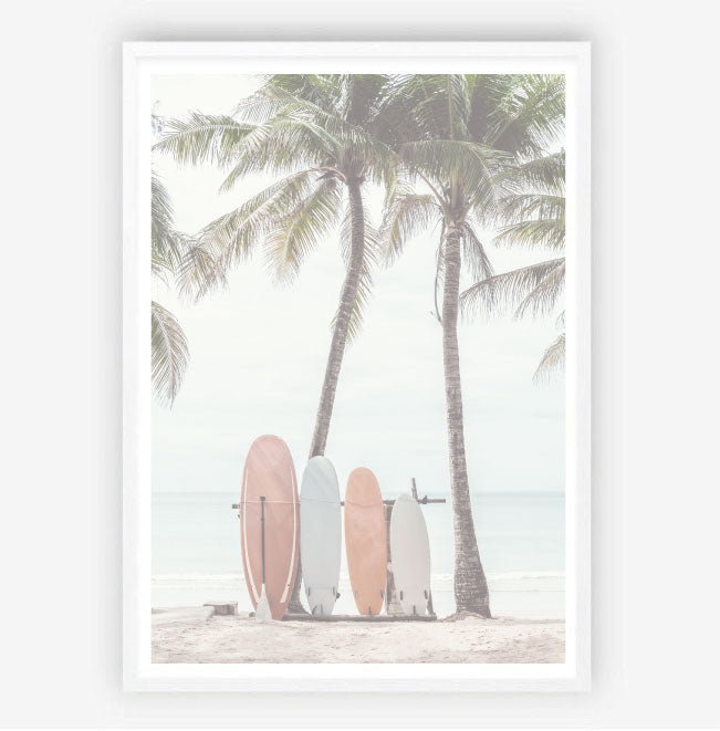 Waiting for the Surf Print