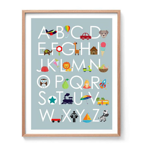 Boys Alphabet Art Print