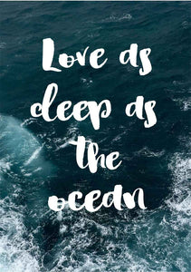 Love as Deep as the Ocean Print
