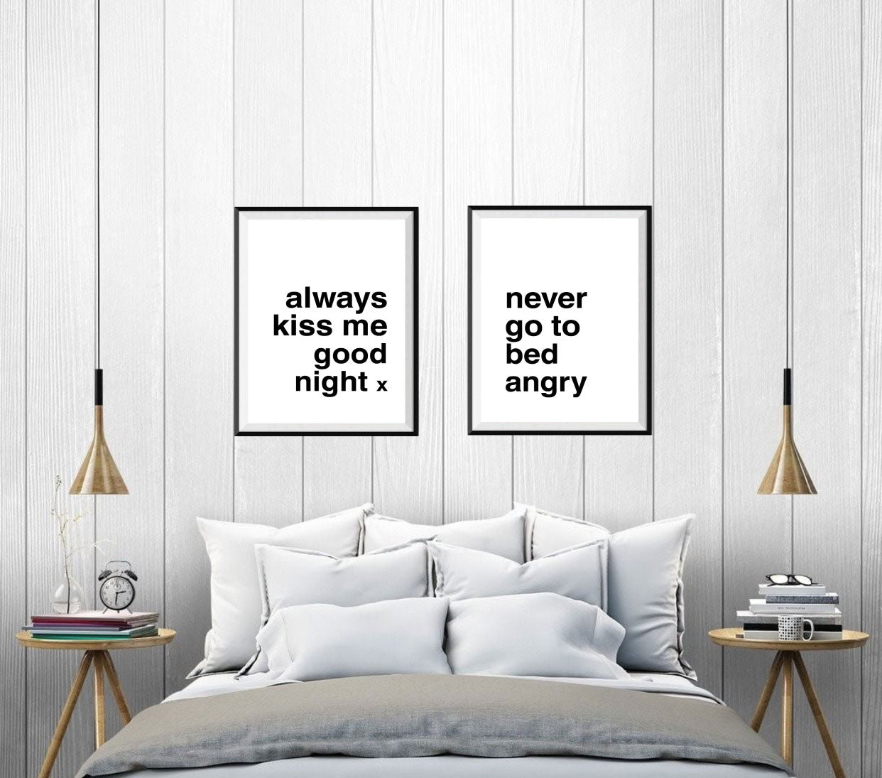 Always Kiss Me Good Night / Never Go to Bed Angry Print Set