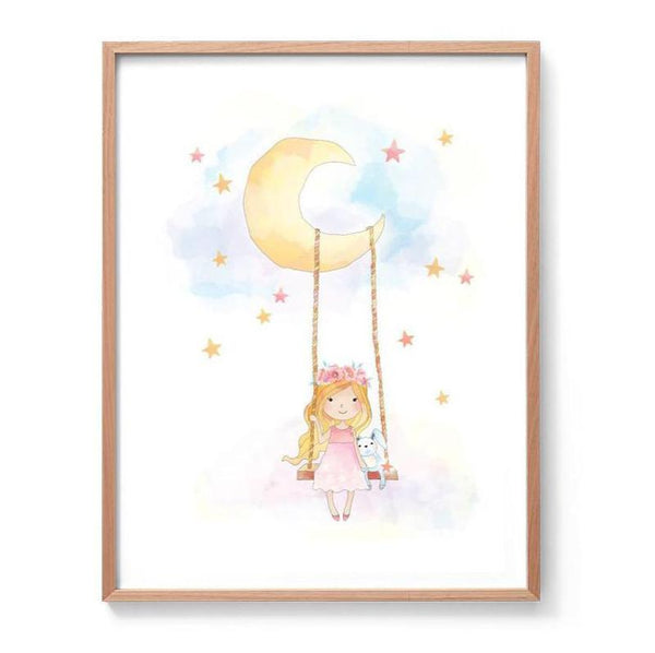 Little Dreamer Watercolour Illustration Print
