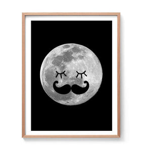 The Man in the Moon Print