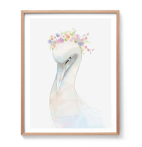 Swan Watercolour Illustration Print