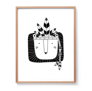 Theo the Tribal Lion Print