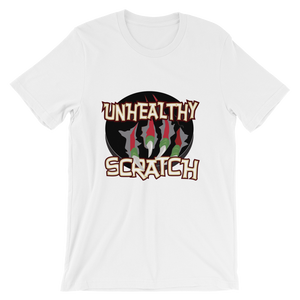 Unhealthy Scratch Unisex short sleeve t-shirt