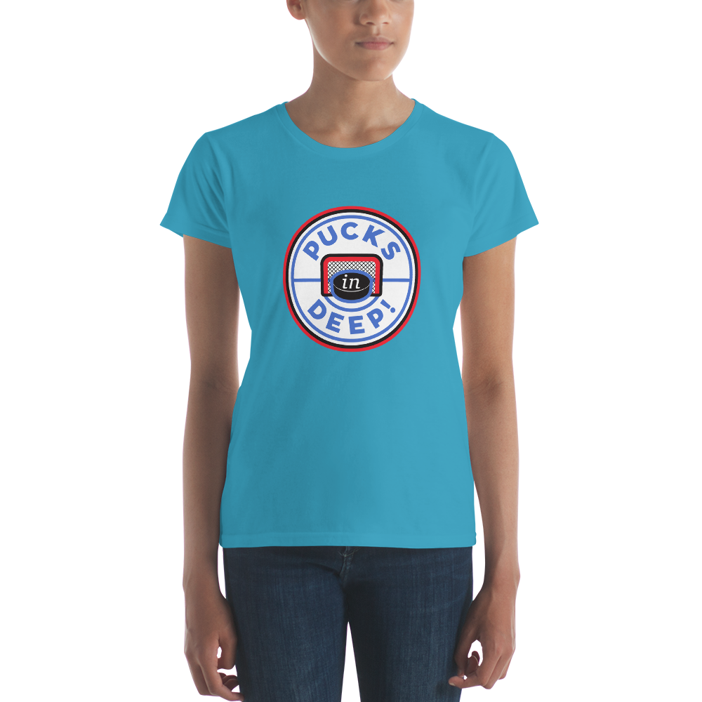 Pucks in Deep! Women's short sleeve t-shirt