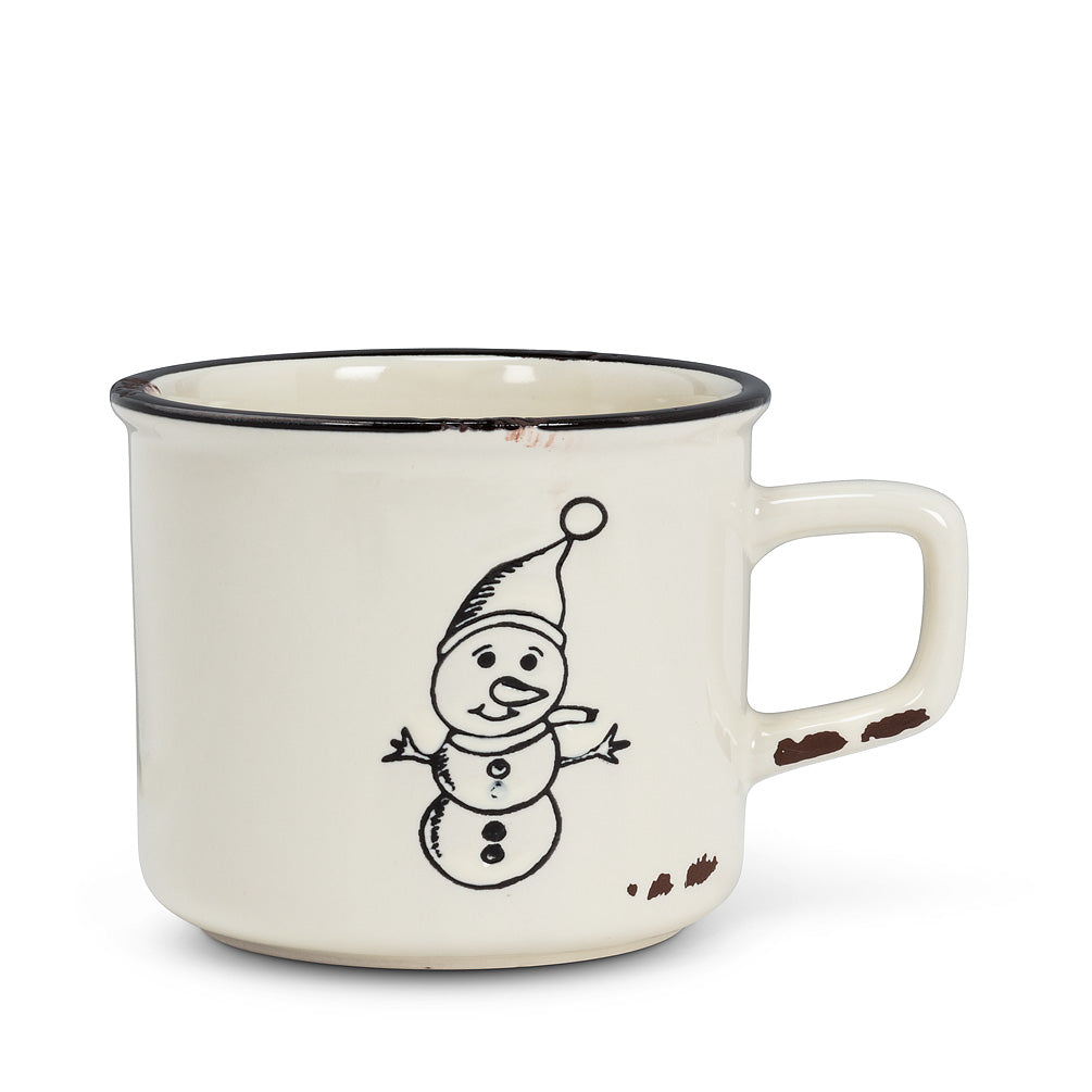 Tasse bonhomme de neige simple