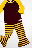 RG™ Maroon & Gold Ruffle Pants Set