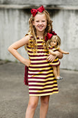 RG™ Maroon & Gold Pearl Dress