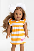 RG™ Bright Orange & White Doll Dress