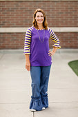 RG™ Purple & Yellow Women's Raglan
