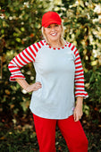 RG™ Silver & Red Women's Raglan