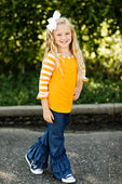RG™ Bright Orange & White Girl's Raglan