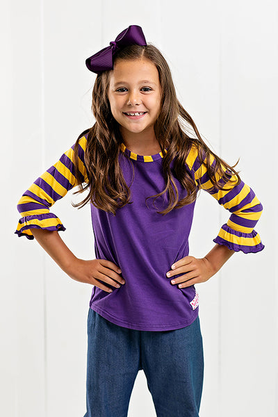 RG™ Yellow & Purple Girl's Raglan