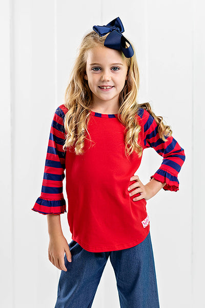 RG™ Red & Navy Girl's Raglan