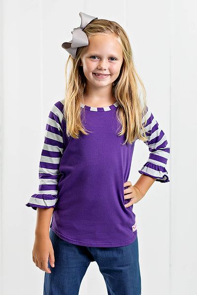 RG™ Purple & Silver Girl's Raglan