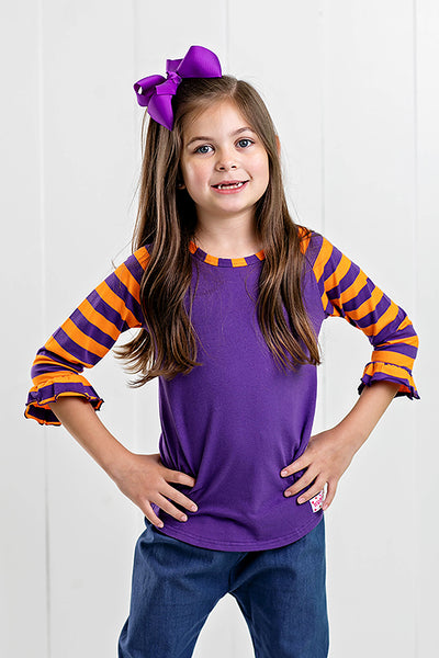 RG™ Purple & Orange Girl's Raglan