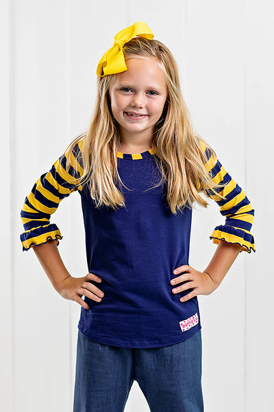 RG™ Navy & Yellow Girl's Raglan