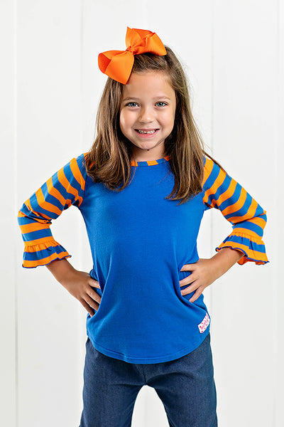 RG™ Royal Blue & Orange Girl's Raglan