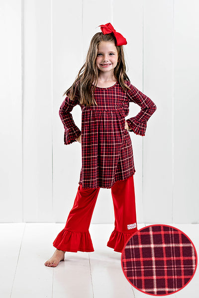 RG™ Winter Warmth Plaid Ruffle Pants Set