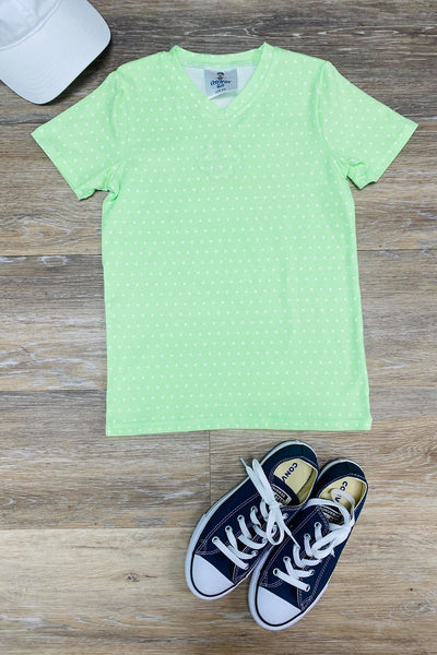 BOYS MINT DOTTED TEE