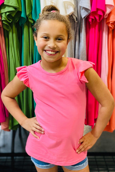 RG™ Bubblegum Pink Little Ruffle Tee