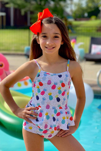 Watercolor Pineapple Tankini