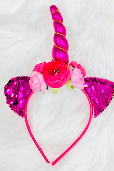 Unicorn Raspberry Animal Ears Headband