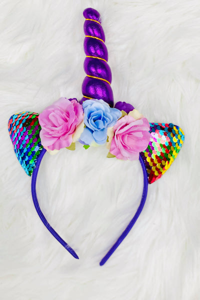 Rainbow Unicorn Animal Ears Headband