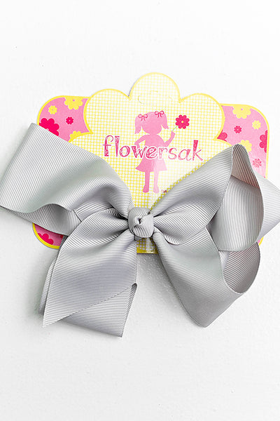 light silver bow with clip