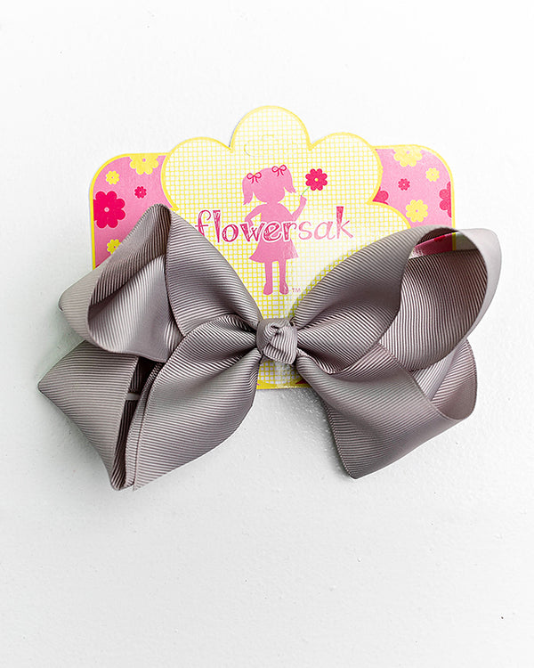 gray bow with clip