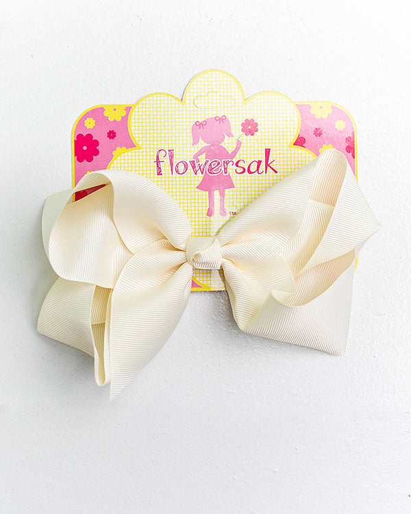 OFF WHITE BOW WITH CLIP