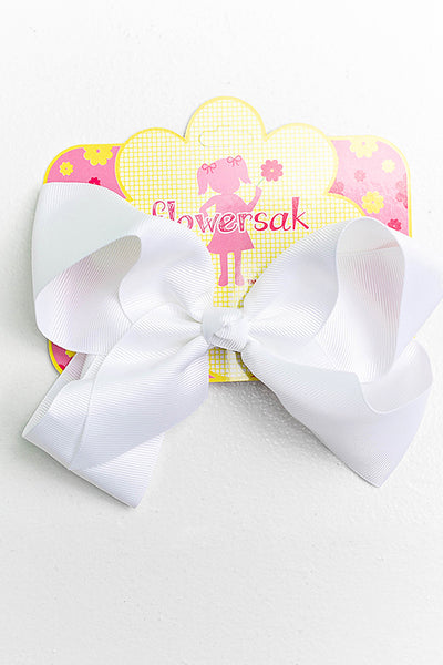 white bow with clip