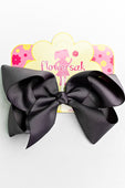 DARK GRAY BOW WITH CLIP