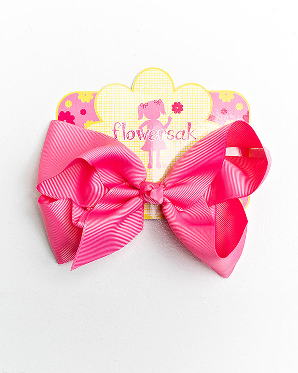 bright pink bow with clip