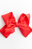 dark coral hair bow