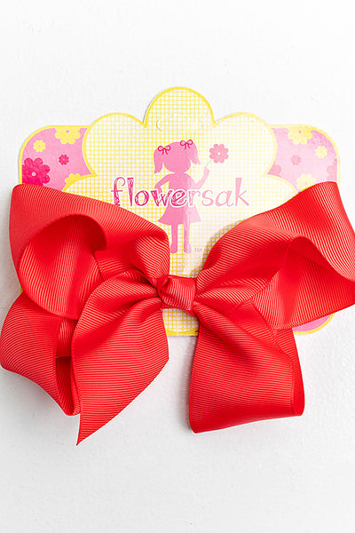 DARK CORAL BOW WITH CLIP