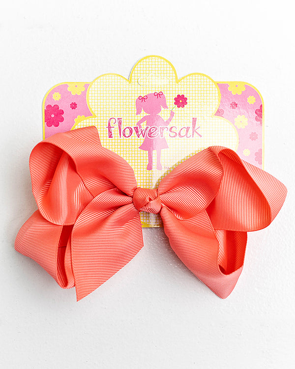 light coral bow with clip