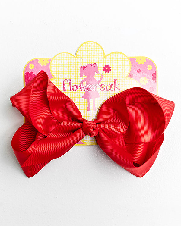 bright red bow with clip