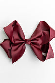BURGUNDY BOW WITH CLIP