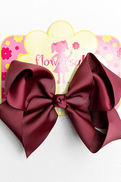 BURGUNDY RED BOW