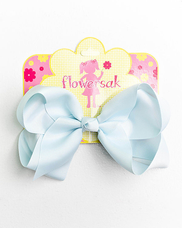 MISTY BLUE BOW WITH CLIP