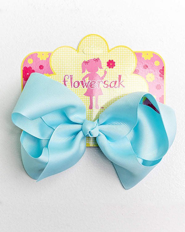 light blue bow with clip