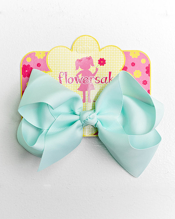 SOFT BLUE BOW WITH CLIP