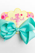 LIGHT AQUA BOW WITH CLIP